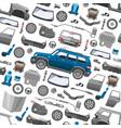 car service parts flat auto mechanic repair of vector image