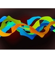 Shiny color waves vector image