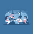 business meeting and presentation vector image