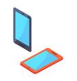 smartphone portable cellphones in isometric design vector image