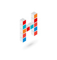 3d cube letter H logo icon design template vector image