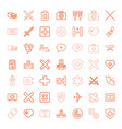 49 cross icons vector image vector image