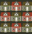a lot of houses in the form of an ornament vector image vector image