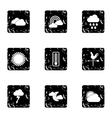Air temperature icons set grunge style vector image vector image