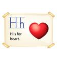 Alphabet H vector image
