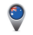 Australia flag pointer vector image vector image