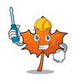automotive red maple leaf mascot cartoon