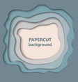 background with pastel blue and beige color paper vector image vector image