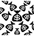 Bags with dollars on a white seamless vector image vector image