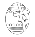 Big easter egg icon outline style vector image vector image