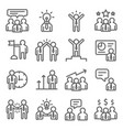 business meeting line icon set vector image vector image