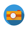 Camera icon with long shadow vector image