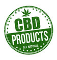 cbd products sign or stamp vector image