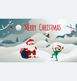 christmas banner with santa vector image