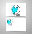 colibri bird sign vector image vector image