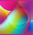 colorful elegant liquid waves abstract background vector image vector image
