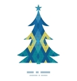colorful fabric ikat diamond Christmas tree vector image vector image