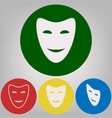 comedy theatrical masks 4 white styles of vector image vector image
