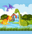 dinosaur in the nature vector image