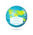 earth mask icon vector image