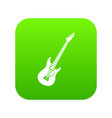 electric guitar icon digital green vector image vector image