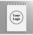 empty blank of spiral notebook notebook template vector image vector image