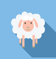 face of sheep icon flat style vector image
