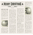 festive newspaper vector image