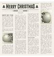 festive newspaper vector image