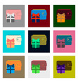 flat assembly icons of purse gift vector image vector image