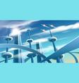 future city landscape vector image