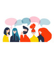 group people african american caucasian vector image