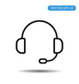 headset icon eps 10 vector image vector image