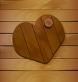 heart on wooden background vector image