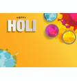holi background flat lay colorful holi powder on vector image vector image