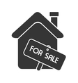 house for sale home real estate isolated vector image