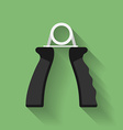 Icon of hand grip exerciser or trainer Flat style vector image