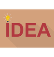 Idea concept flat style vector image vector image