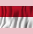 indonesia realistic waving flag national country vector image