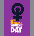 international womens day 8th march power poster vector image