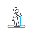 jogging linear icon concept jogging line vector image