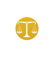justice lawyer logo and symbols template icons vector image vector image