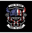 live to ride ride to vector image vector image