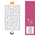 maze the ship - children s game labyrinth kids vector image