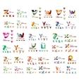Mega set of letter logos vector image vector image