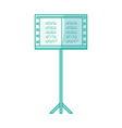 musical partiture sheets vector image vector image