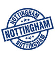 nottingham blue round grunge stamp vector image vector image
