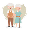 old people cute couple grandparents senior vector image