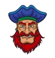 Old pirate captain vector image vector image