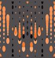orange dots and circles on grey vector image vector image